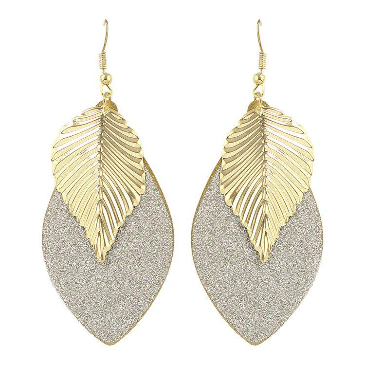 Pair of Gorgeous Engraving Leaf Drop Earrings For Women модуль памяти kingston hyperx savage ddr3 dimm 2133mhz pc3 17000 cl11 8gb kit 2x4gb hx321c11srk2 8
