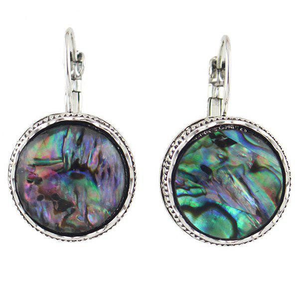 Pair of Faux Gem Round Earrings - COLORMIX