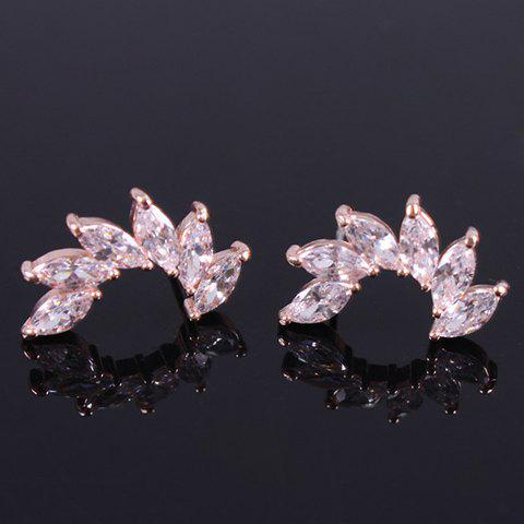 Pair of Noble Faux Crystal Stud Earrings For Women pair of noble rhinestone faux crystal earrings for women