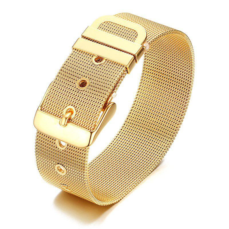 Adjustable Mesh Stainless Steel Watch Band Bracelet - GOLDEN