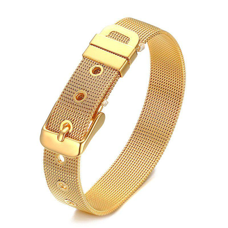 Chic Alloy Adjustable Bracelet For Men - GOLDEN