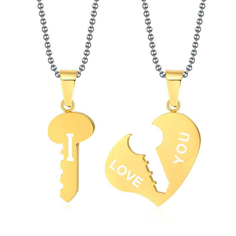 A Suit of Gorgeous Heart Key Pendant Necklaces For Lover