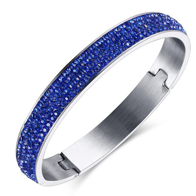 Vintage Embellished Rhinestone Bracelet For Women - BLUE