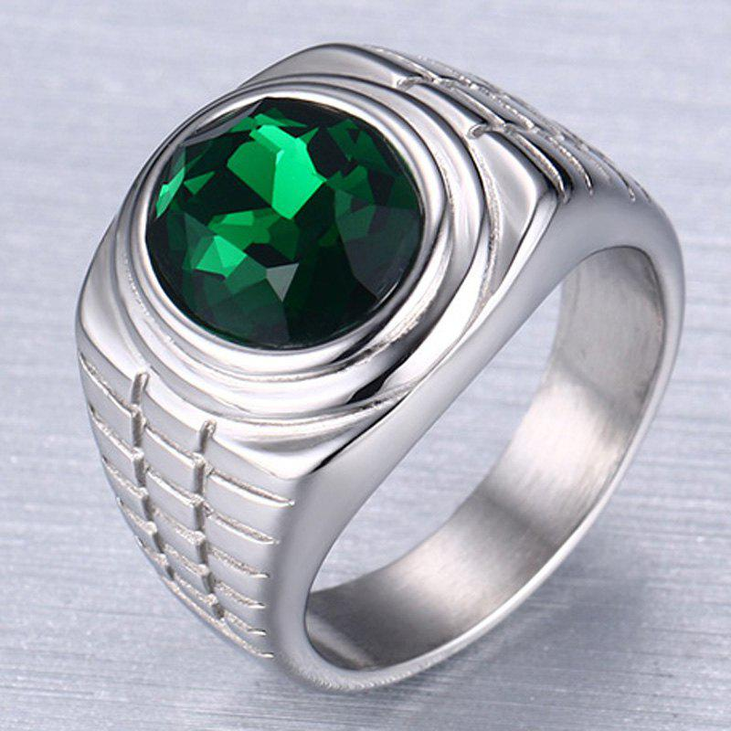 Delicate Embellished Rhinestone Ring Jewelry For Men