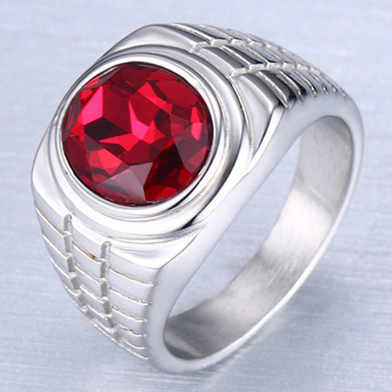 Trendy Embellished Rhinestone Ring Jewelry For Men - SILVER ONE-SIZE
