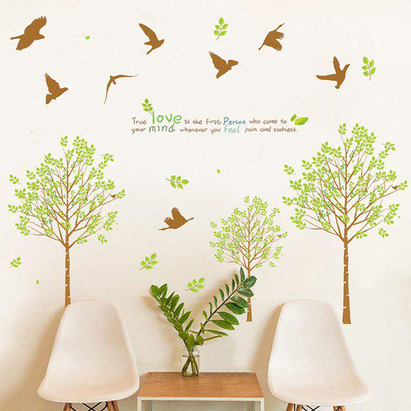 Stylish Tree and Birds Pattern Wall Sticker For Livingroom Bedroom Decoration