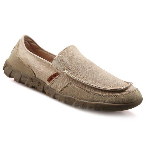 Casual Solid Color and Stitching Design Men's Loafers - APRICOT 44