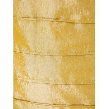 Chic Plunging Neck Backless Sleeveless Golden Bodycon Dress For Women - M M