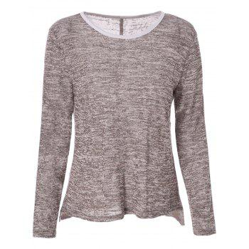 Chic Round Neck Long Sleeve Snow Design T-Shirt For Women