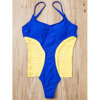 Chic Women's Spaghetti Strap Strappy Hollow Out One-Piece Swimsuit