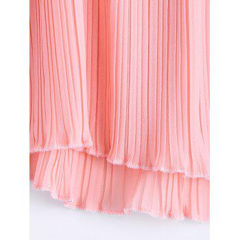 Fashionable Flounce Plunging Neck Fold Tank Top For Women - LIGHT PINK ONE SIZE(FIT SIZE XS TO M)
