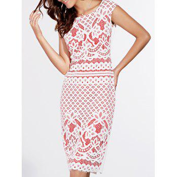 Stylish Short Sleeve Lace Crochet Dress For Women