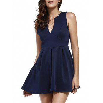 Plunging Neck Sleeveless Dress