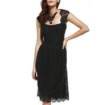 Garceful Women's Strappy Lace Hollow Out Dress