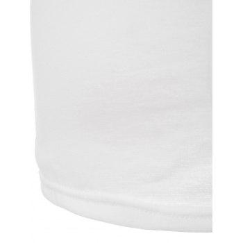 Stylish Boat Neck Short Sleeve Solid Color Women's T-Shirt - WHITE WHITE