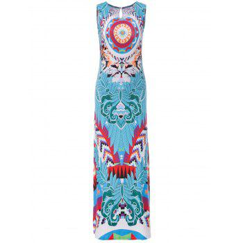 Women's Chic Furcal Colorful Bohemia Tank Dress - S S