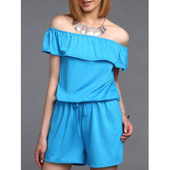 Stylish Women's Off The Shoulder Ruffled Romper