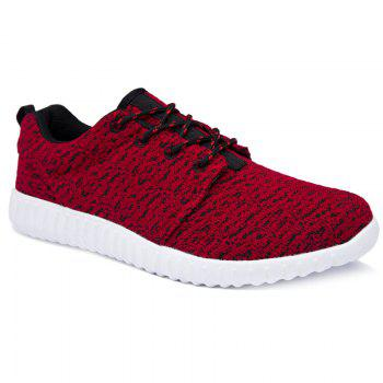 Buy Leisure Lace-Up Round Toe Design Men's Athletic Shoes RED