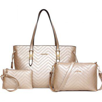 Trendy Metallic and Embossing Design Women's Shoulder Bag