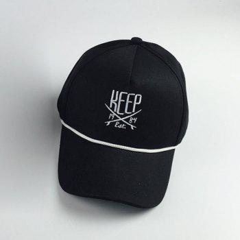 Stylish Letters Embroidery and Drawstring Embellished Hip Hop Baseball Cap