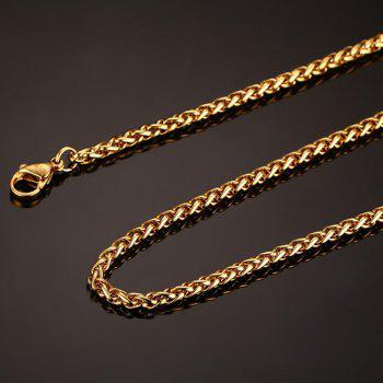 Rock Style Gold Plated Snake Chain Necklace For Men - GOLDEN