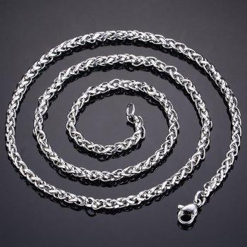 Rock Style Solid Color Snake Chain Necklace For Men