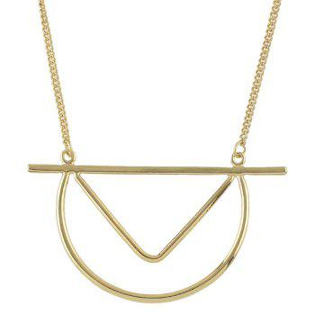 Chic Style Geometric Pendant Sweater Chain For Women - GOLDEN GOLDEN