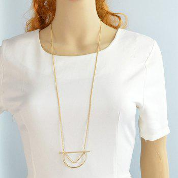 Chic Style Geometric Pendant Sweater Chain For Women -  GOLDEN