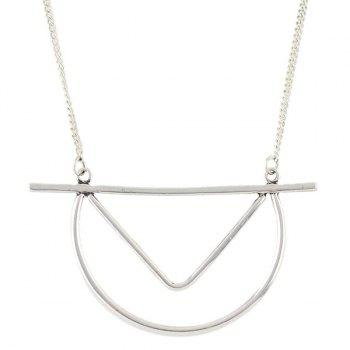 Chic Style Geometric Pendant Sweater Chain For Women -  SILVER
