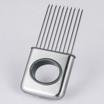 Kitchen Cooking Tool Vegetable Cutter Stainless Steel Onion Slicers -  SILVER