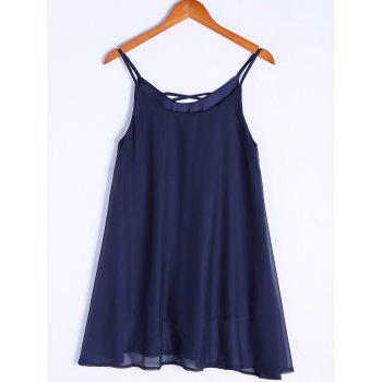 Stylish Spaghetti Strap Asymmetrical Women's Flare Dress
