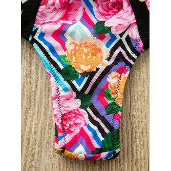Bikini Set Halter Neck Printed Zipper embellies Bikini Set Femmes - multicolore M