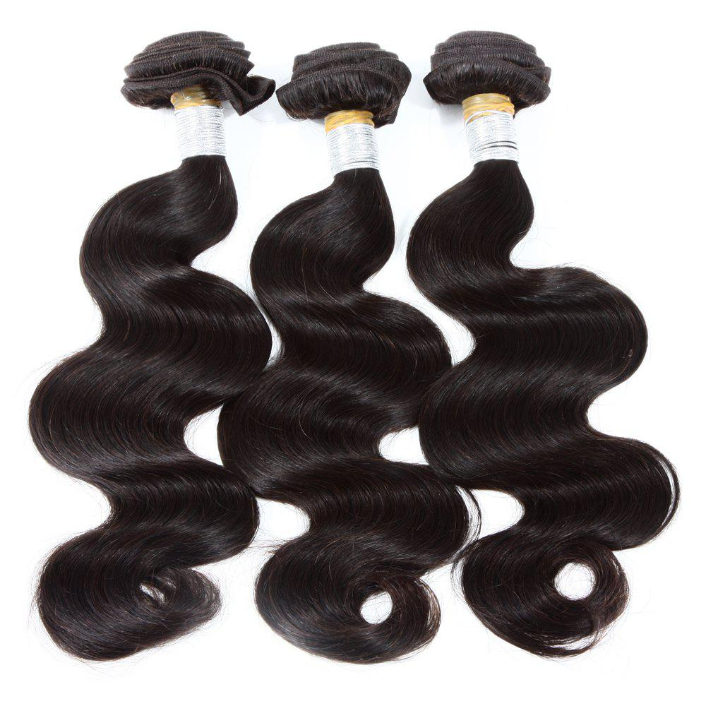 3 Pcs / Lot Boutique vague de corps des femmes de cheveux indiens 8A Remy Weave Bundle - Noir 22INCH*24INCH*24INCH