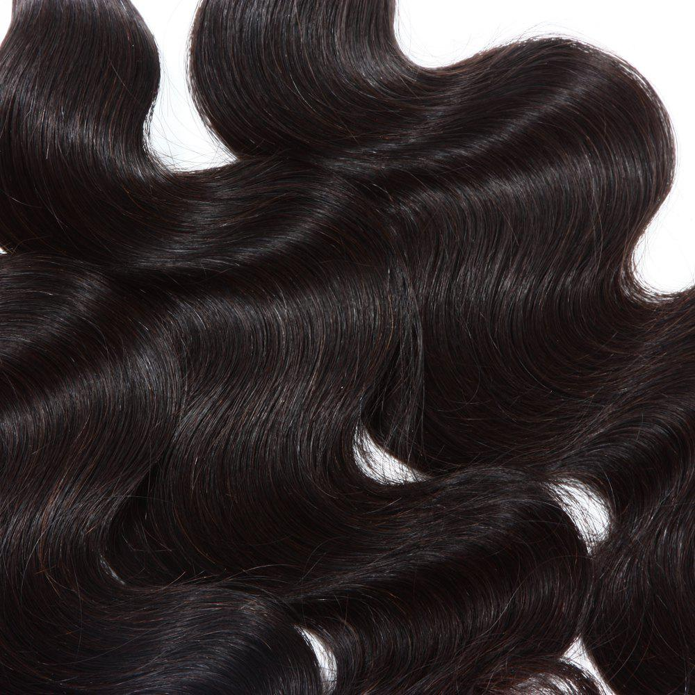 3 Pcs/Lot Boutique Body Wave Women's Indian 8A Virgin Human Hair Weave Bundle - BLACK 22INCH*24INCH*24INCH