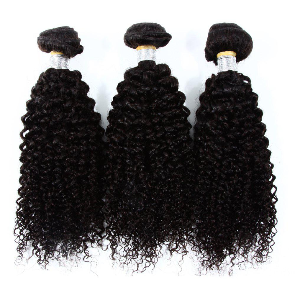 Vogue Kinky Curly 3 Pcs/Lot Indian 8A Virgin Human Hair Weave Bundle For Women - BLACK 14INCH*16INCH*16INCH