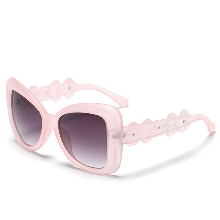 Chic Small Flower Leg and Butterfly Frame Design Women's Transparent Sunglasses - LIGHT PINK