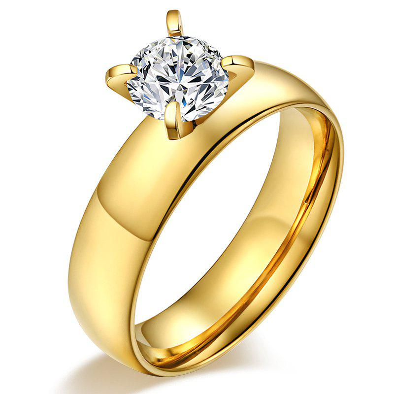 Gold Plated Alloy Ring - GOLDEN ONE-SIZE