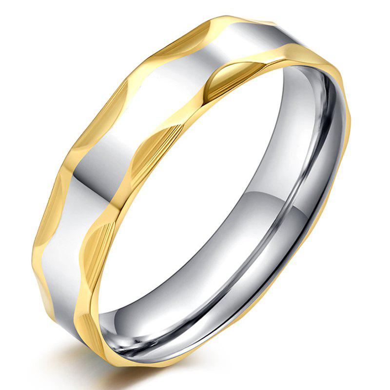 Chic Alloy Engraved Geometric Ring For Men - SILVER ONE-SIZE