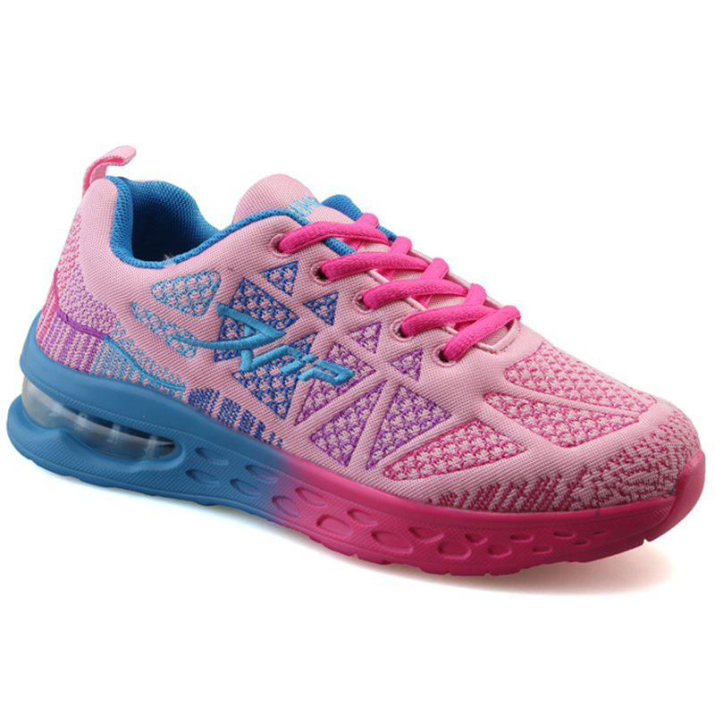 Trendy Color Block and Geometric Design Women's Sneakers - PINK 40