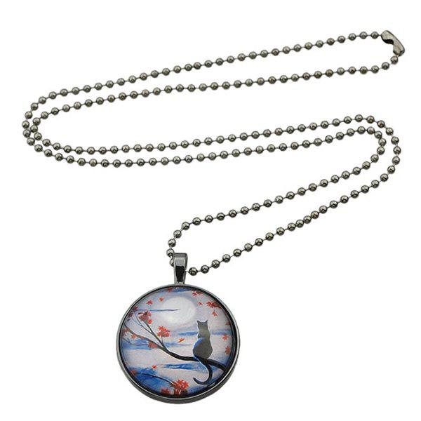 Chic Kitten Tree Pattern Beads Necklace For Women