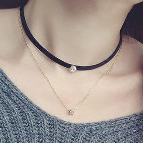 A Suit of Punk Style Rhinestone Necklaces For Women