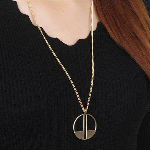 Charming Round Hollow Out Sweater Chain For Women - GOLDEN