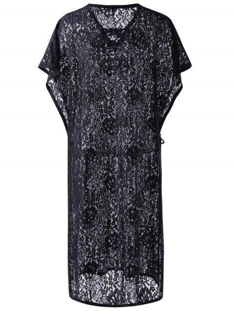 Lace Trendy See-Through Cover-Up pour les femmes - Noir S