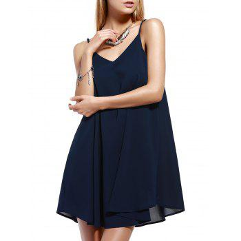 Chic Spaghetti Strap Pleated Dress For Women