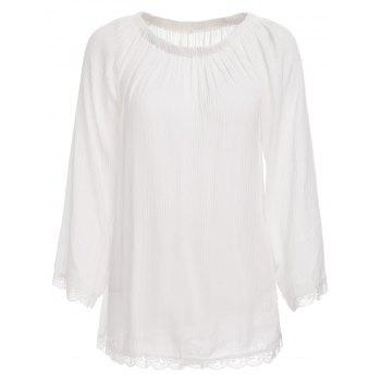 Trendy Off The Shoulder Long Sleeve See-Through Cover-Up For Women
