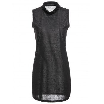 Sweet Sleeveless High Neck Women's Mini Dress