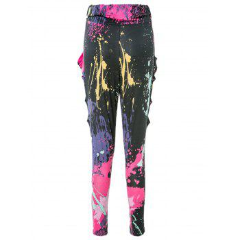 Cool and Refreshing Style Colorful Ink-Panting Harem Pants -  AS THE PICTURE