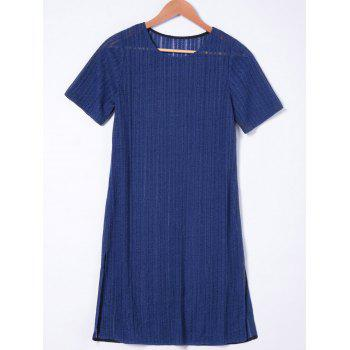 Jewel Neck Loose-Fitting Short Sleeves Dress