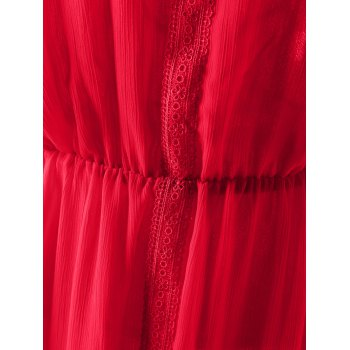 Stylish Women's Slimming Halterneck Backless Dress - RED M