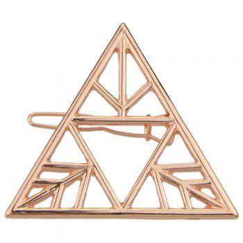 Buy Vintage Solid Color Hollowed Triangle Hairpin Women ROSE GOLD
